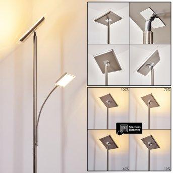 Veteli Lampa Stojąca oświetlająca sufit LED Stal nierdzewna, 2-punktowe