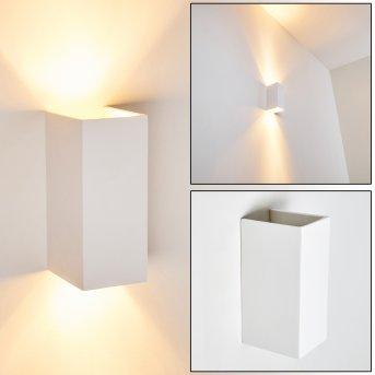 Aversa Lampa ścienna Biały, 2-punktowe