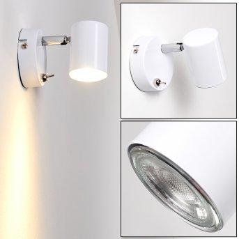 Chennai Lampa ścienna LED Chrom, Biały, 1-punktowy