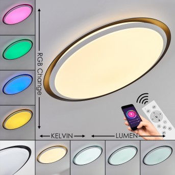 Vejle Lampa Sufitowa LED Biały, 2-punktowe, Zmieniacz kolorów