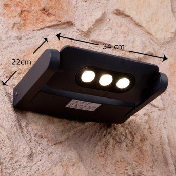 Lutec LEADSPOT zewnętrzny kinkiet LED Antracytowy, 3-punktowe