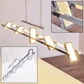 Gravendal Lampa Wisząca LED Chrom, 5-punktowe