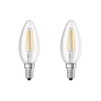 Osram LED E14 4 Watt 2700 Kelvin 470 Lumen zestaw dwóch