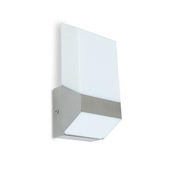 Lutec FLAT Zewnętrzny kinkiet LED Srebrny, 1-punktowy