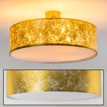 Foggia lampa sufitowa Złoty, 3-punktowe