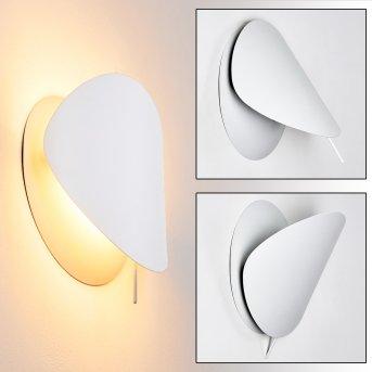 Tikung Lampa ścienna Biały, 1-punktowy