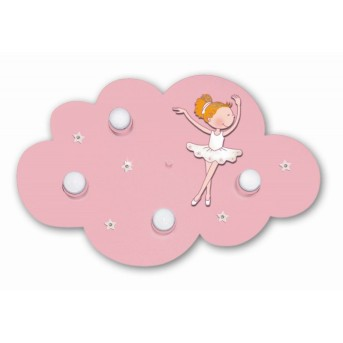 Waldi Wolke Ballerina lampa sufitowa Różowy, 4-punktowe