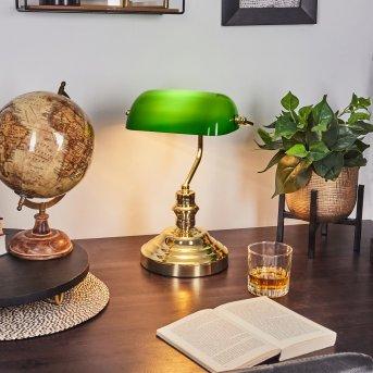 lampa bankierska Mosiądz, Zielony, Złoty, 1-punktowy