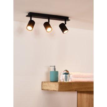 lampy sufitowe listwy Lucide LENNERT LED Czarny, 3-punktowe