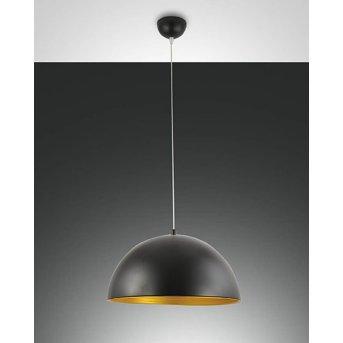 Fabas Luce DINGLE lampa wisząca Czarny, Złoty, 1-punktowy