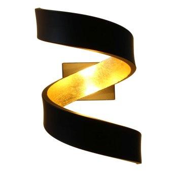 Lutec HELIX Lampa ścienna Czarny, Złoty, 2-punktowe