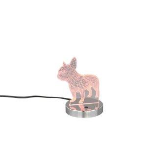 Reality DOG Lampa stołowa LED Chrom, 1-punktowy, Zmieniacz kolorów
