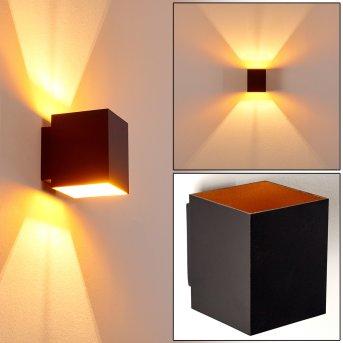 Laforsen Lampa ścienna Czarno-złoty, 1-punktowy