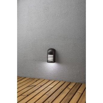 Konstsmide Prato Lampa ścienna LED Czarny, 1-punktowy, Czujnik ruchu