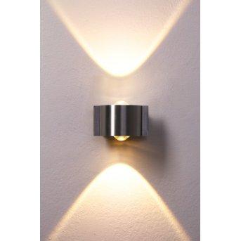 B-Leuchten Stream lampa ścienna LED Stal nierdzewna, 2-punktowe