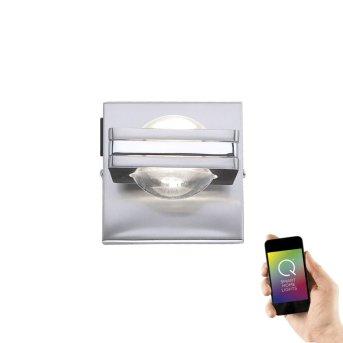Lampa Ścienna Paul Neuhaus Q-Fisheye LED Stal nierdzewna, 2-punktowe, Zdalne sterowanie, Zmieniacz kolorów