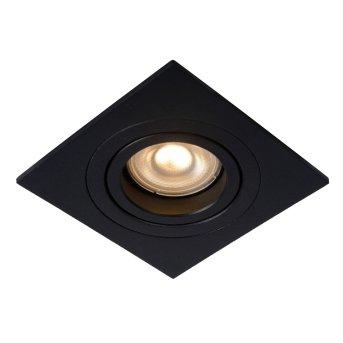Lucide TUBE Reflektor wpuszczany Czarny, 1-punktowy