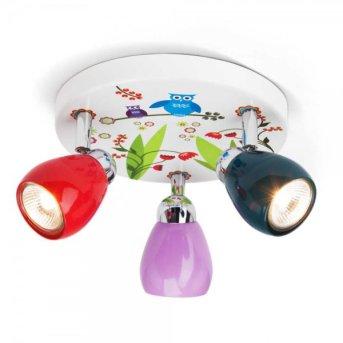 Brilliant Birds lampa owalna z reflektorkami Kolorowy, 3-punktowe