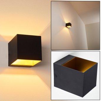 Svanskog Lampa ścienna Czarno-złoty, 1-punktowy