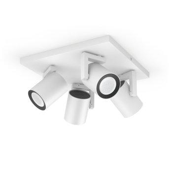 Philips Hue Ambiance White & Color Argenta rozszerzenie zestawu podstawowego do lampy sufitowo-ściennej Biały, 4-punktowe, Zmieniacz kolorów