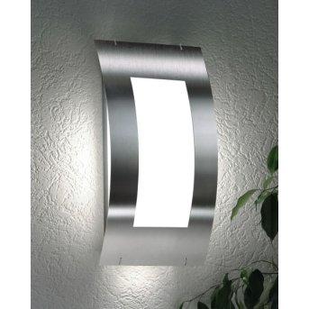 CMD Aqua Quadrat Lampa ścienna Stal nierdzewna, 1-punktowy