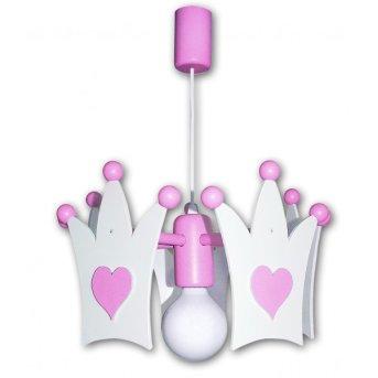 Waldi Krone lampa wisząca Różowy, 1-punktowy