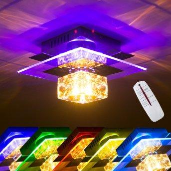 Christy lampa ścienna Chrom, Przezroczysty, 1-punktowy, Zmieniacz kolorów