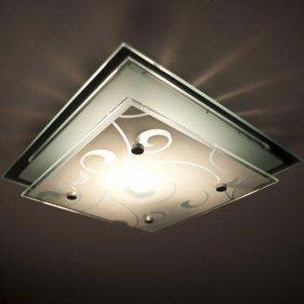 Globo Dia lampa sufitowa Chrom, Biały, 1-punktowy
