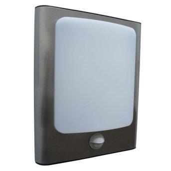 Lutec FACE Lampa ścienna LED Stal nierdzewna, 1-punktowy, Czujnik ruchu