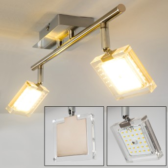 Kiruna Lampa Sufitowa LED Nikiel matowy, Chrom, 2-punktowe