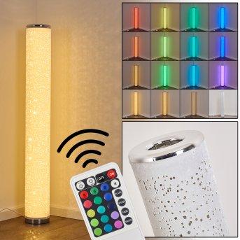 Tumba Lampa Stojąca LED Biały, 1-punktowy, Zdalne sterowanie, Zmieniacz kolorów