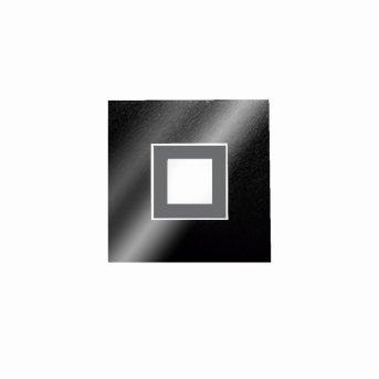 Grossmann KARREE Oświetlenie ścienne i sufitowe LED Czarny, Tytan, 1-punktowy