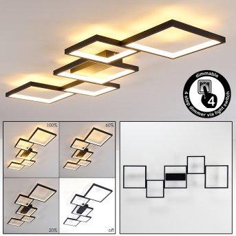 Bacolod Lampa Sufitowa LED Czarny, 1-punktowy