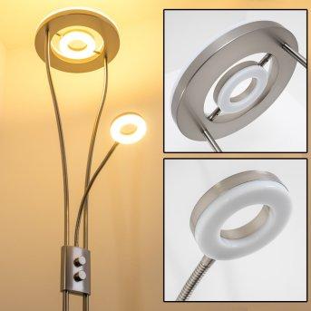 Watino Lampa stojąca oświetlająca sufit LED Nikiel matowy, 3-punktowe
