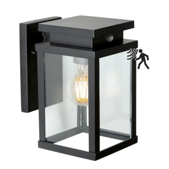 KS Verlichting Jersey Lampa ścienna Czarny, 1-punktowy, Czujnik ruchu