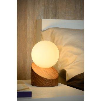 Lucide LEN Lampa stołowa Ciemne drewno, 1-punktowy