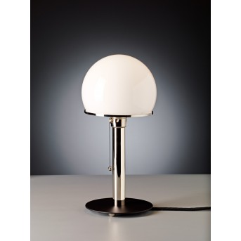 Tecnolumen Wagenfeld 23 Lampa stołowa Nikiel matowy, Czarny, 1-punktowy