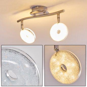Donot Lampa Sufitowa LED Nikiel matowy, 2-punktowe