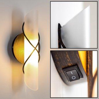Palma lampa ścienna Czarny, Stal nierdzewna, Biały, 1-punktowy
