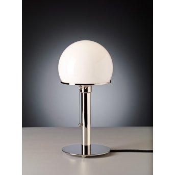 Tecnolumen Wagenfeld 24 Lampa stołowa Nikiel błyszczący, 1-punktowy