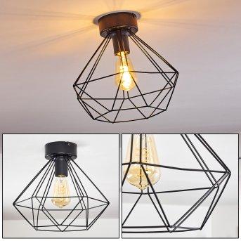 Cenova Lampa Sufitowa Czarny, 1-punktowy