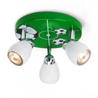 Brilliant Soccer lampa owalna z reflektorkami Zielony, Biały, 3-punktowe