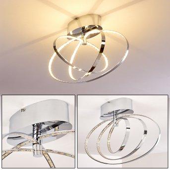 Ringos lampa sufitowa LED Chrom, 1-punktowy