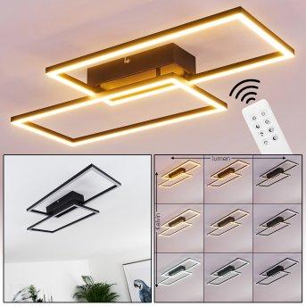 Cheka Lampa Sufitowa LED Czarny, 2-punktowe, Zdalne sterowanie