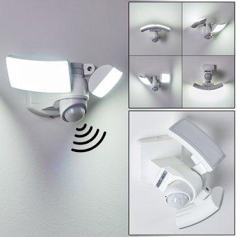 Foroyar Zewnętrzny kinkiet LED Biały, 2-punktowe, Czujnik ruchu