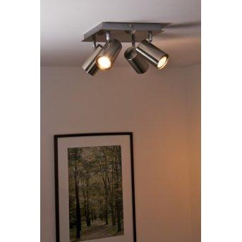 Trio 8024 lampa sufitowa Nikiel matowy, Stal nierdzewna, 4-punktowe