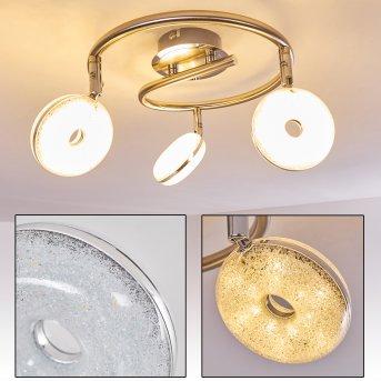 Donot Lampa Sufitowa LED Nikiel matowy, 3-punktowe
