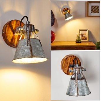 Berkeley Lampa ścienna Ciemnobrązowy, Ocynkowany, 1-punktowy