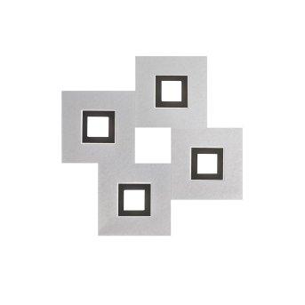 Grossmann KARREE Oświetlenie ścienne i sufitowe LED Czarny, Aluminium, 4-punktowe