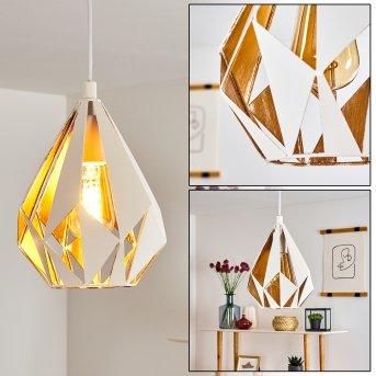 Corraleja Lampa Wisząca Biały, Złoty, 1-punktowy